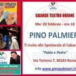 Pino Palmieri - Invito Evento Teatro Orione - Mercoledì 20 feb.