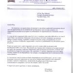Lettera di stima dall'associazione Pro Loco Scandriglia (Rieti)