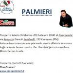 Invito per sabato 9 febbraio 2013 Evento PALACAVICCHI.