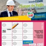 Candidato Parlamento Europeo Armando CUSANI,  circoscrizione Lazio-Marche-Umbria e Toscana.